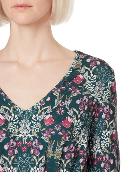 Therapy Brocade floral print jersey dress