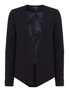 Tailored drop front jacket