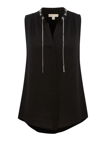 Michael Kors Sleeveless chain tie blouse