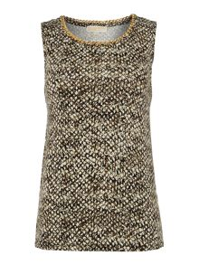 Sleeveless chain neck tank top