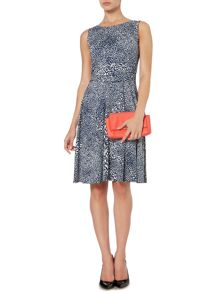 Abstract spot full skirted dress