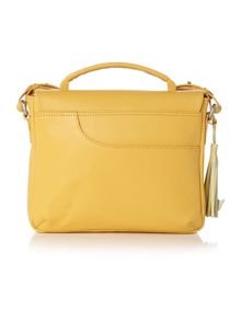London fields yellow flap over cross body
