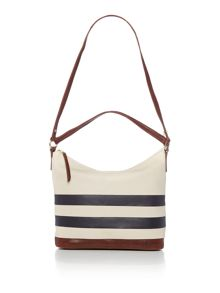 Putney navy hobo bag
