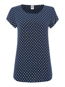 Vero Moda Polka dot short sleeve noos top