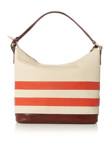 Putney orange hobo bag