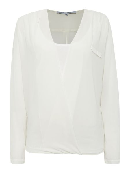 Millie Mackintosh Long Sleeved cross over blouse top