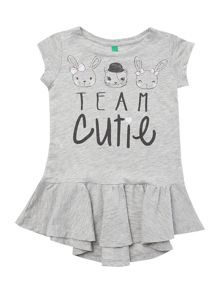 Girls cutie animal faces dress
