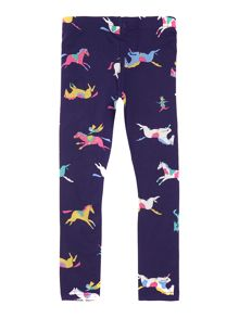 Girls pony club print legging