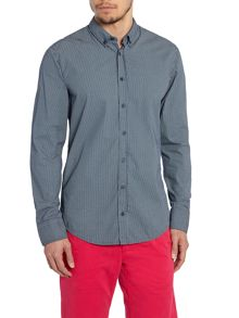 Long Sleeve Classic Fit Shirt In Mirco Spot Print