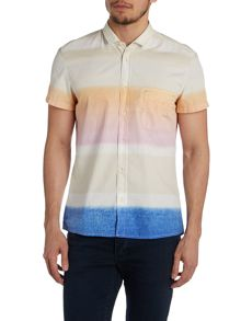 Hugo Boss Faded Stripe Printed Shirt
