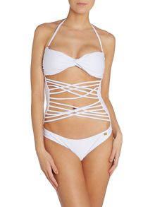 Lipsy Thin Latice Mono Swimsuit