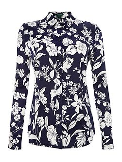 Long Sleeve slim fit shirt with floral pattern