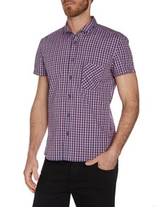 Short Sleeve Regular Fit Shirt In Gingham