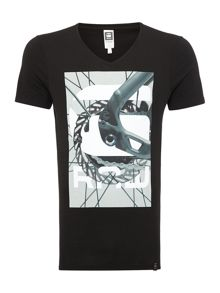 Bike Chain Graphic Slim Fit T-Shirt