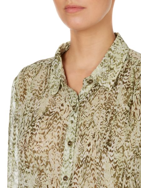 Linea Weekend Feather print blouse