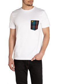 Tartan Pocket Crew Neck Regular Fit T-Shirt