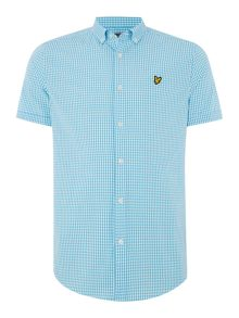 Gingham Classic Fit Short Sleeve Classic Collar S