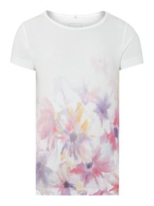 Girls Watercolour Flower T-Shirt