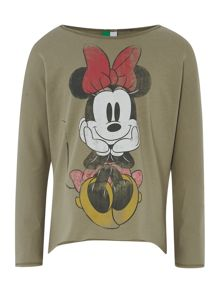 Girls long sleeved minnie mouse tee