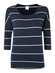 3/4 sleeved striped top