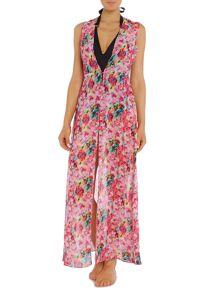 Floral Maxi Coverup