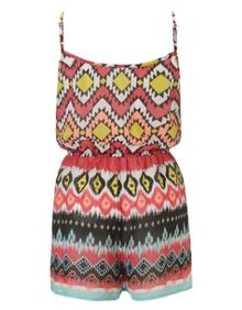 Tribal Strapped Michelle Keegan Playsuit