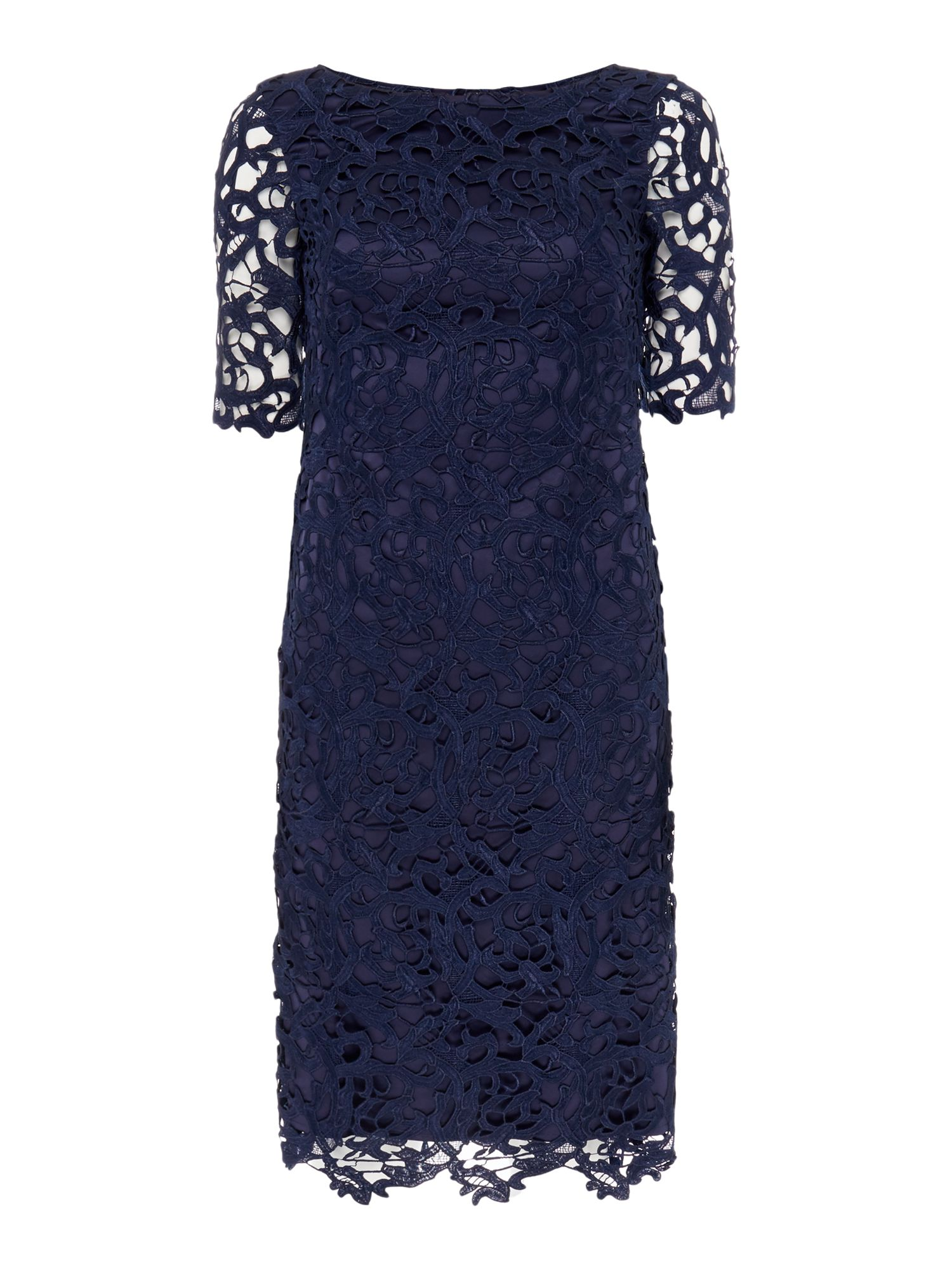 Untold All Over Lace Dress, Blue