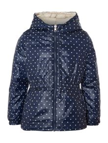 Girls reversible hooded jacket