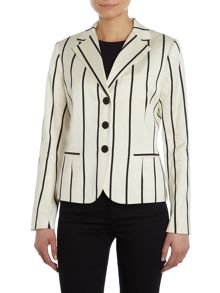 Long sleeved blazer with stripe pattern
