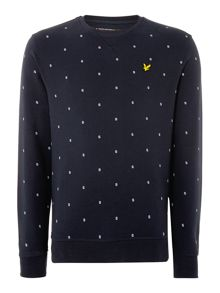 Micro Split Square Crew Neck Sweat