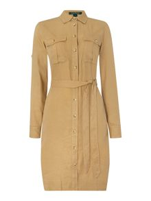 Lauren Ralph Lauren Long sleeved shirt dress