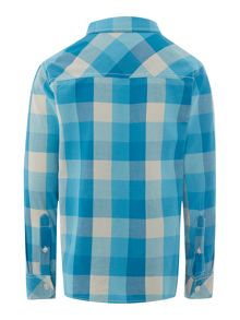 Boy`s large check multi shirt