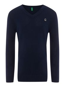 Boys v neck jumper