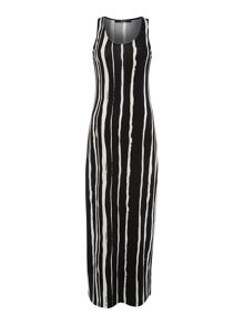 Oui Striped sleeveless maxi dress