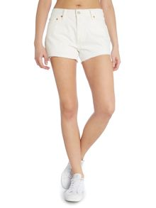 501 cut off shorts in vintage white