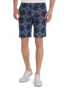 Hugo Boss Denim Patterned Shorts