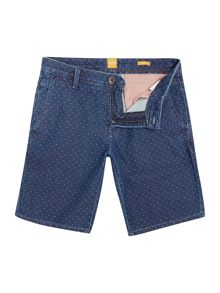 Hugo Boss Denim Shorts With Micro Dot Pattern