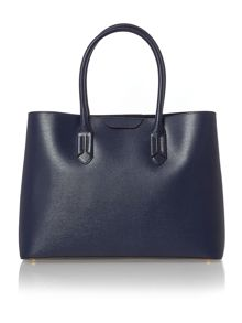 Tate navy large tote bag