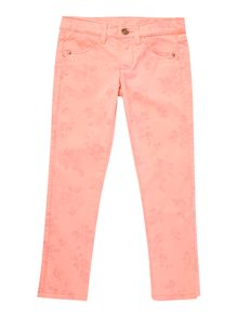 Girls coloured printed trousers