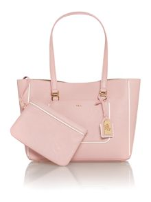 Dorset light pink tote bag with pouchette