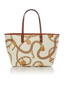 Halstead white large tote bag