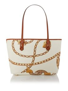 Halstead white small tote bag