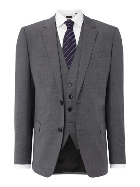 Hugo Boss Patterned Notch Collar Slim Fit Suits