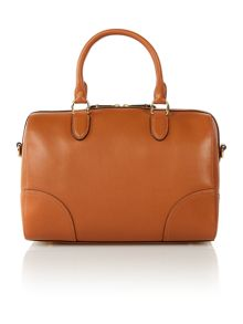 Lauren tan crossbody bowler bag