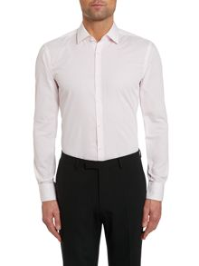 Hugo Boss Pattern Slim Fit Long Sleeve Classic Collar Shirt