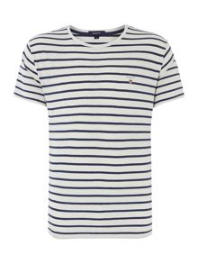 Gant Stripe Crew Neck Regular Fit T-Shirt