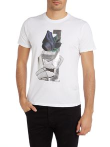 Foil Flower Lady Graphic T-Shirt