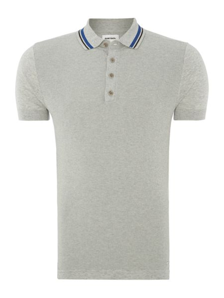 Diesel Textured Waffle Front Knitted Polo