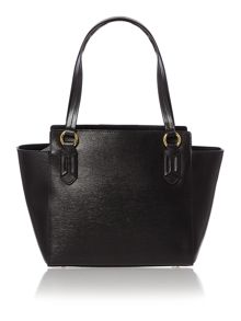 Tate black tote shoulder bag