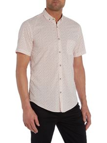 Classic Fit Short Sleeve Shirt In Micro Print
